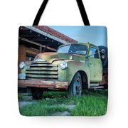 Waiting For Work Tote Bag by Tony Baca