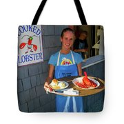 Waitress Serving Lobster  Tote Bag