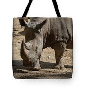 Walking Rhino With One Large Horn And One Small Horn Tote Bag