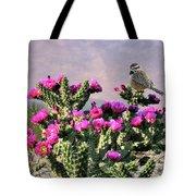 Walking Stick Cactus And Wren Tote Bag