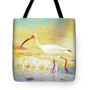 Walking The Waves Of Sanibel Tote Bag
