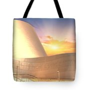 Wall Disney Concert Hall At Sunset Tote Bag