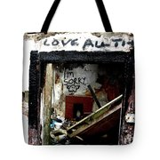 Wall, Sorry Tote Bag by Edward Lee