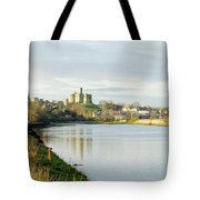 Warkworth Castle And River Aln Tote Bag