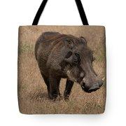 Warm And Fuzzy Warthog Tote Bag by Mary Lee Dereske