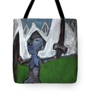 Warrior In A Field Tote Bag