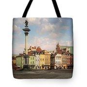 Warsaw On A Sunny Morning Tote Bag by Jaroslaw Blaminsky