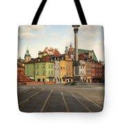 Warsaw - The Old Town Tote Bag by Jaroslaw Blaminsky