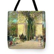 Washington Arch, Spring - Digital Remastered Edition Tote Bag