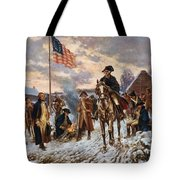 Washington At Valley Forge Tote Bag