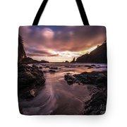 Washington Coast Dusk Tide Motion Tote Bag