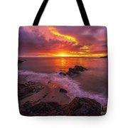 Washington Coast Sunset Serene Evening Tote Bag
