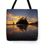 Washington Coast Weeping Lady Sunset Cloudscape Tote Bag
