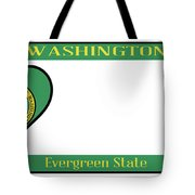 Washington State License Plate Tote Bag