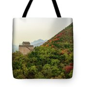 Watch Tower, Great Wall Of China Tote Bag