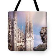 Watching Over The Duomo Milan Italy  Tote Bag
