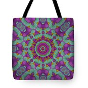 Water Garden Lotus Blossoms In Sacred Style Tote Bag