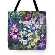 Watercolor - Alpine Wildflower Design Tote Bag