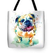 Watercolor Bulldog Tote Bag