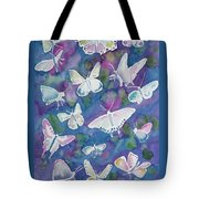 Watercolor - Butterfly Design Tote Bag