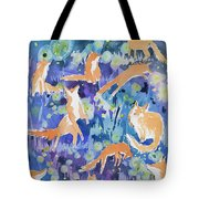 Watercolor - Fox And Firefly Design Tote Bag