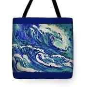 Watercolor - Ocean Wave Design Tote Bag