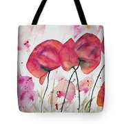Watercolor - Poppy Portrait Tote Bag