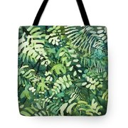 Watercolor - Rainforest Canopy Design Tote Bag