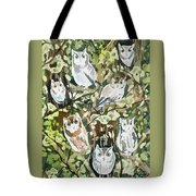 Watercolor - Screech Owl And Forest Design Tote Bag