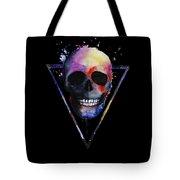 Watercolor Skull Design For Women Tote Bag