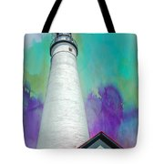 Watercolor Sky Lighthouse Tote Bag