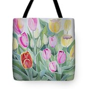 Watercolor - Spring Tulips Tote Bag