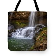 Waterfall At Cloudland Canyon State Park Tote Bag by Keith Smith