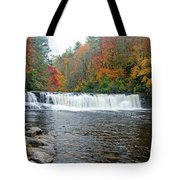 Waterfall In Autumn Tote Bag by Claire Turner
