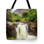 Waterfall Under The Mountain Tote Bag