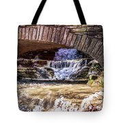 Waterfalls Through Stone Bridge Tote Bag