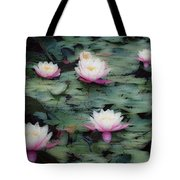 Waterlily Impressions Tote Bag
