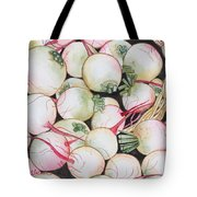 Watermelon Radishes And A Teeny Ear Of Corn Tote Bag