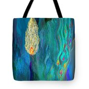 Watery Abstract Xviii - Women And Candles Tote Bag