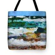 Waves Crash - Painting Version Tote Bag