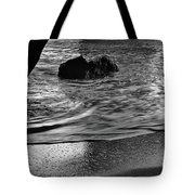 Waves From The Cave In Monochrome Tote Bag
