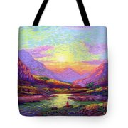 Waves Of Illumination Tote Bag