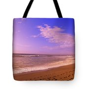 Waves On The Beach, North Beach, Point Tote Bag