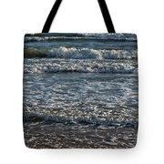 Waves Quietly Approaching Tote Bag