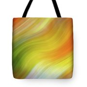 Wavy Colorful Abstract #4 - Yellow Green Orange Tote Bag by Patti Deters