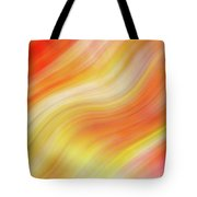 Wavy Colorful Abstract #5 - Yellow Orange Tote Bag by Patti Deters