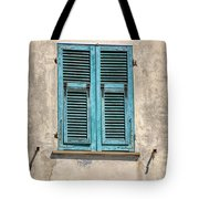 Weathered Window Of Cinque Terre Tote Bag by David Letts