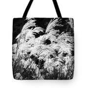 Weed Grass Black And White Tote Bag