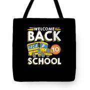 Welcome Back To School Kids School Bus Tote Bag