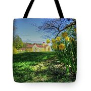 Wentworth Daffodils Tote Bag by Wayne Marshall Chase